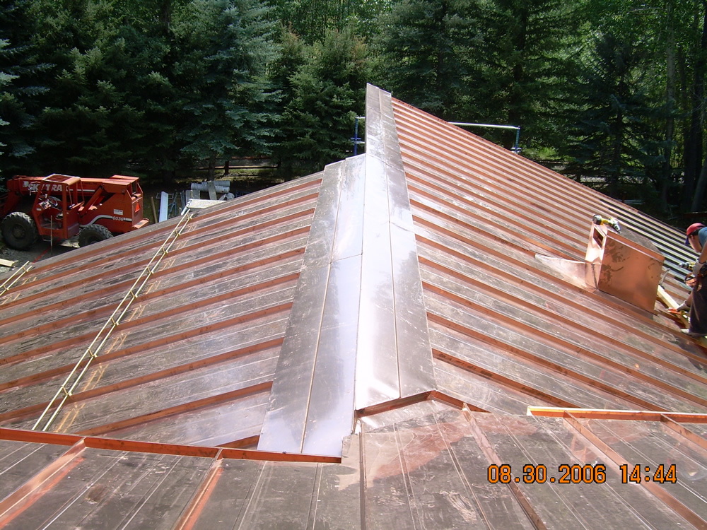 Professional roofing for Standing seam copper